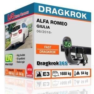 Dragkrok till Alfa Romeo Giulia – fast dragkrok - Dragkrok365.se