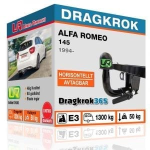 dragkrok till ALFA ROMEO 145 horisontellt avtagbar dragkrok dragkrok365