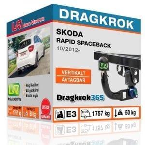 Dragkrok (dragkula) till SKODA RAPID SPACEBACK dragkrok365