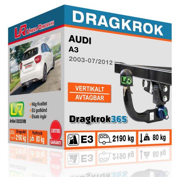 dragkrok audi a3 www.dragkrok365.se