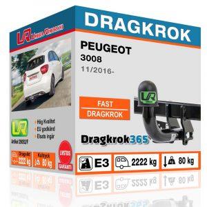 dragkrok peugeot 3008 dragkrok365.se
